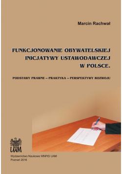 Funkcjonowanie obywatelskiej inicjatywy ustawodawczej w Polsce