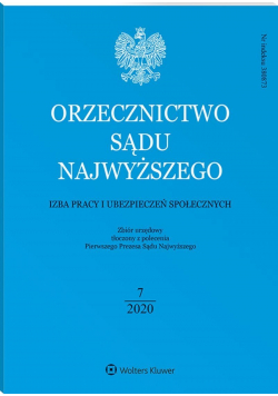 Orzecznictwo sądu najwyższego izba pracy i ubezpieczeń społecznych 7/2020