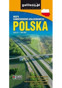 Mapa samoch-kraj. - Polska 1:650 000