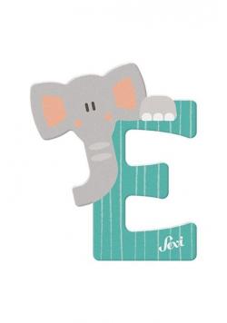Litera E Elephant Zestaw zwierzęcy 12 sztuk