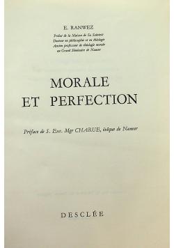 Morale et perfectrion