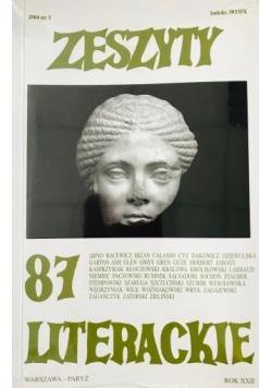 Zeszyty literackie 87 3/2004