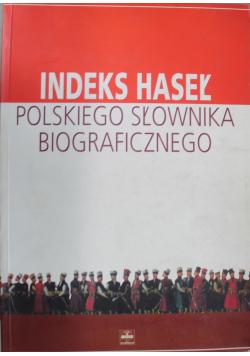 Indeks haseł Polskiego słownika biograficznego