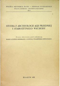 Studia z archeologii Azji Przedniej i starożytnego wschodu