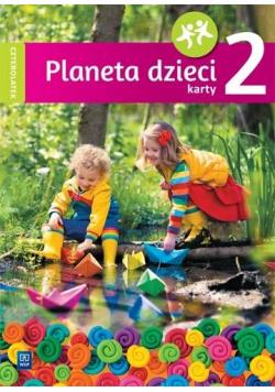 Planeta dzieci. Czterolatek. Karty pracy cz.2 WSiP
