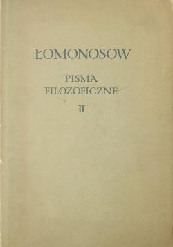 Łomonosow Pisma filozoficzne Tom II