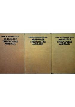 Manuale Theologiae Moralis 3 Tomy ok 1931 r