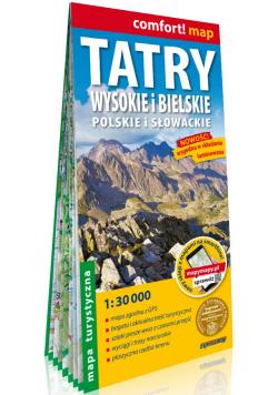 Tatry Wysokie i Bielskie polskie i słowackie laminowana mapa turystyczna 1:30 000