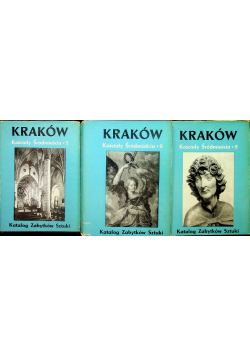 Kraków Kościoły Śródmieścia 2 3 tomy