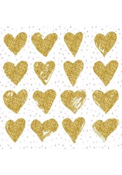 Karnet 155x155 Walentynki - Serca