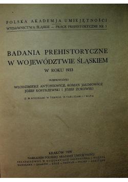 Badania prehistoryczne w województwie Śląskiem 1935 r