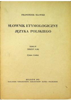Słownik etymologiczny języka polskiego Tom IV Zeszyt 3