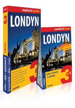 Londyn 3w1 przewodnik + atlas + mapa