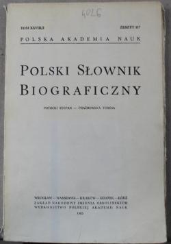 Polski słownik biograficzny tom XXVII/2 zeszyt 117