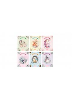 Zeszyt A5/16K linia podwójna Fairy animals (10szt)