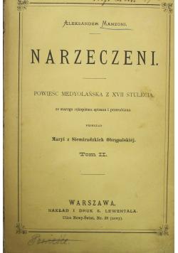 Narzeczeni Tom II 1882 r.