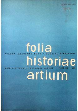 Folia historiae artium Tom XX