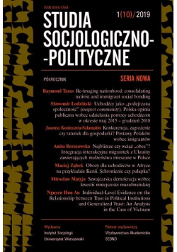 Studia Socjologiczno-Polityczne... nr 1(10)/2019