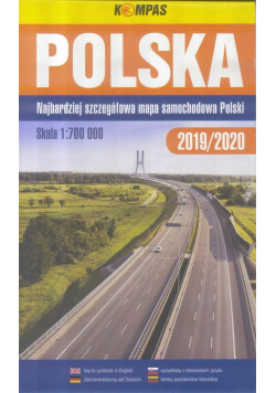 Mapa samochodowy 1:700 000 Polska BR KOMPAS
