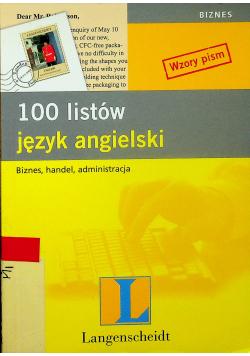 100 listów język angielski