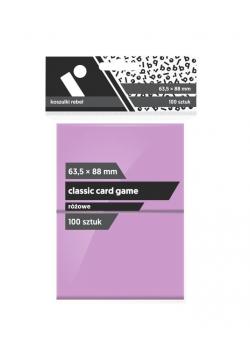 Koszulki CCG różowe 63,5x88 (100sztuk) REBEL