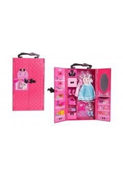 Garderoba z wyposażeniem różowa