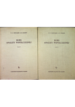 Kurs analizy współczesnej 2 tomy