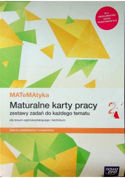 Matematyka Maturalne karty pracy 2 Zakres podstawowy i rozszerzony
