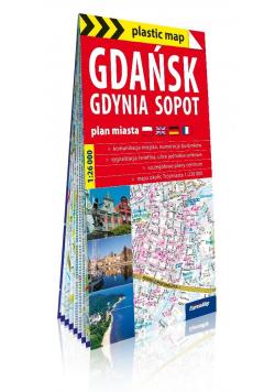 Plastic map Gdańsk, Gdynia, Sopot 1:26 000