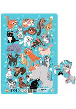 Puzzle ramkowe 53 Koty