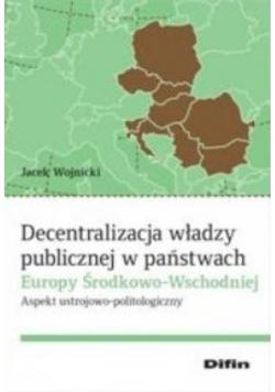 Decentralizacja władzy publicznej w państwach...
