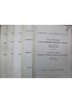 Słownik łaciny średniowiecznej w Polsce tom V  5 zeszytów
