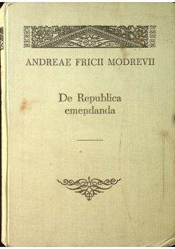 De Republica emendanda