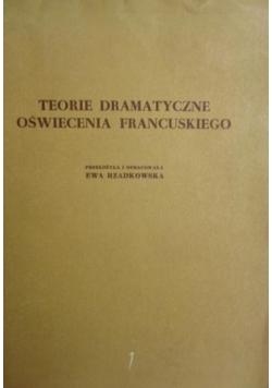 Teorie dramatyczne oświecenia francuskiego
