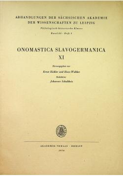 Onomastica slavogermanica XI band 66 heft 3