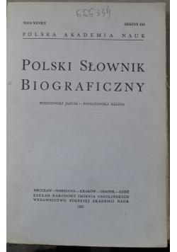 Polska słownik biograficzny tom XXVII/2 zeszyt 113