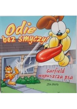 Odie bez smyczy Garfield wypuszcza psa