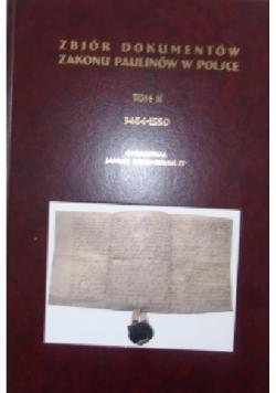 Zbiór dokumentów Zakonu Paulinów w Polsce Tom II Dedykacja Redaktora
