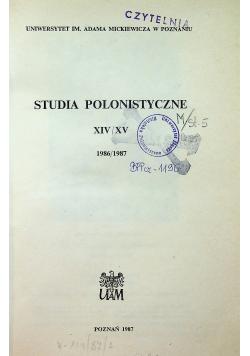 Studia polonistyczne XIV / XV