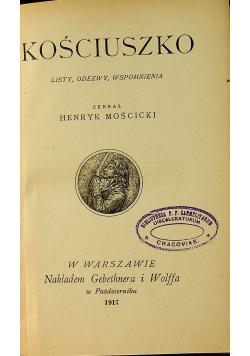 Kościuszko listy odezwy wspomnienia 1917 r
