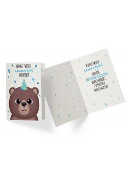 Karnet PR-324 Urodziny 4 chłopiec