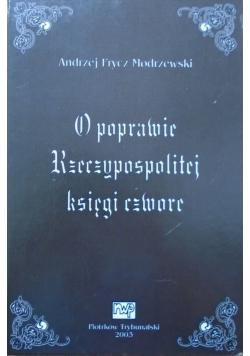 O poprawie Rzeczypospolitej księgi czwore