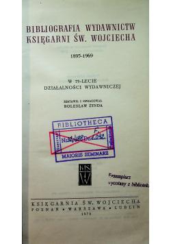 Bibliografia wydawnictw księgarni Św. Wojciecha