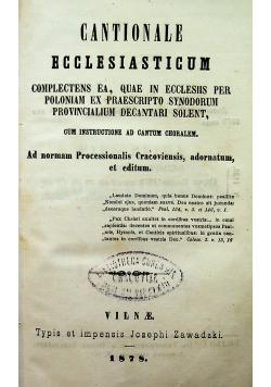 Cantionale ecclesiasticum 1878 r
