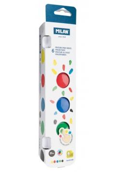 Farby do malowania palcami 6 kolorów x 25ml MILAN