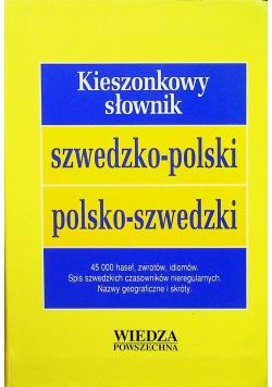 Kieszonkowy słownik szwedzko polski polsko szwedzki