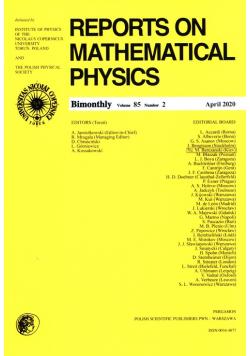 Reports on Mathematical Physics 85/2 Pergamon