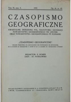 Czasopismo Geograficzne Tom XI Zeszyt 3 1933 r.