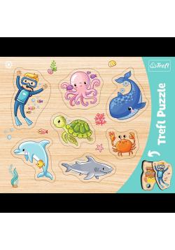 Ramkowe układanki kształtowe- Podwodny świat TREFL