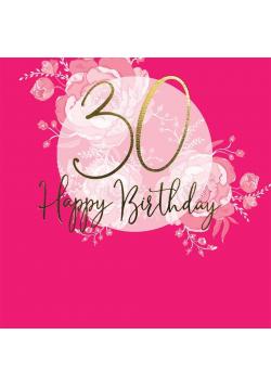 Karnet kwadrat CL0930_SG Urodziny 30